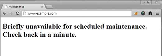 مشکل Briefly unavailable for scheduled