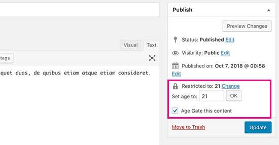 نحوه افزودن تایید سن کاربر در وردپرس