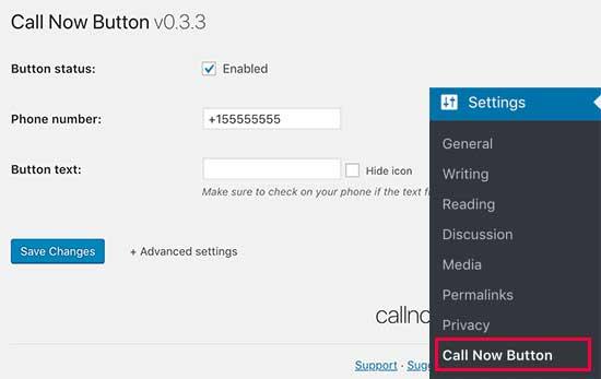 نحوه اضافه کردن دکمه کلیک برای تماس